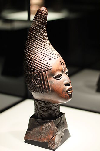 Kingdom of Benin - Bronze Head of Queen Idia; early 16th century; bronze; Ethnological Museum of Berlin (Germany)