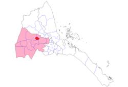 Location of Agordat in Zoba Gash-Barka