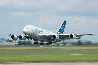 Wide-body aircraft - The Airbus A380 is the world's largest and widest passenger aircraft.