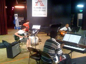 Alabama Jazz Hall of Fame - Members of the AJHoF free Saturday jazz class, instructed by Ray Reach, May 23, 2009