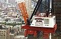Alain Robert ascend of New York Times Building - 03 - Crane guys watch Alain Robert climb.jpg
