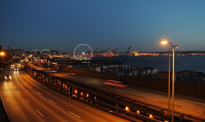 Alaskan Way Viaduct Seattle Twilight.jpg
