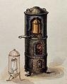 Alchemy; a furnace with nested vessels inside, and a sketch Wellcome V0025751.jpg