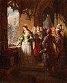 Aleksander Lesser - Jadwiga przypatrująca się wjazdowi Jagiełły na zamek krakowski.jpg