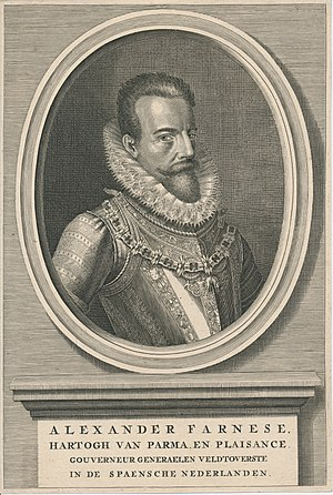 Alexander Farnese, Duke of Parma - Image: Alexander Farnese 1545 1592 Erfgoedcentrum Rozet 300 191 d 2 A 47