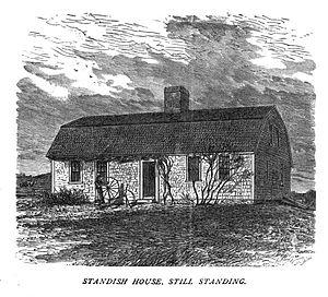 Alexander Standish House - Standish House, ca. 1875 print