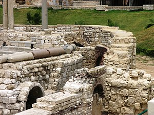 Alexandria - Roman Amphitheater - close up view showing arches