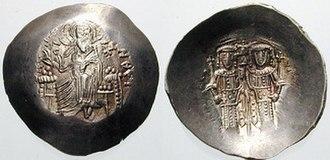 Andronikos Doukas Angelos - Silver aspron trachy of Alexios III Angelos