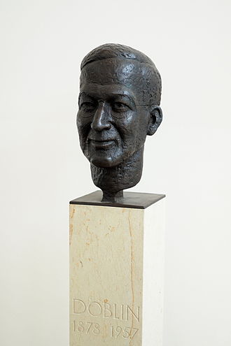 Alfred Döblin - Alfred Döblin bronze bust, by Siegfried Wehrmeister