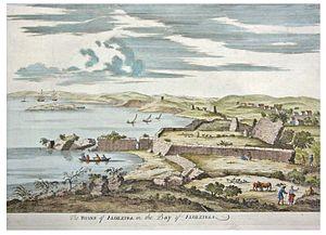 Siege of Algeciras (1369) - Ruins of Algeciras in an 18th-century illustration.
