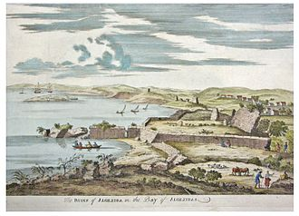 Siege of Algeciras (1369) - Ruins of Algeciras in an 18th-century illustration.