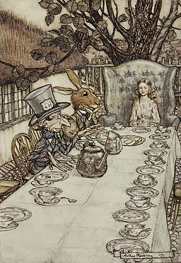 Alice in Wonderland by Arthur Rackham - 08 - A Mad Tea-Party