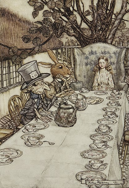 File:Alice in Wonderland by Arthur Rackham - 08 - A Mad Tea-Party.jpg