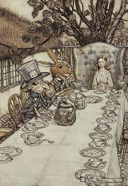 File:Alice in Wonderland by Arthur Rackham - 08 - A Mad Tea-Party.jpg