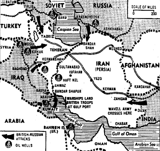 Allied Forces Sweep on in Iran