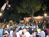 Banquet nocturne au festival du vin de Limassol