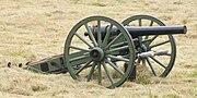American Civil War era 10 lb parrott rifle used in the battle of Corydon reenactment