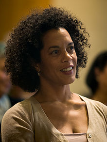 "Aminatta Forna at the awards ceremony of the LiBeraturpreis 2008 for her book ""Ancestor Stones""."