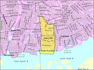Amityville, New York - Image: Amityville ny map