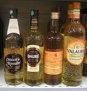 Muscat de Rivesaltes AOC - Some different bottles of muscat de Rivesaltes