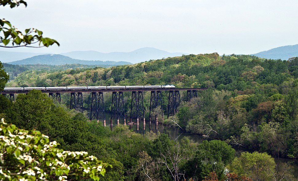 Amtrak Across the James