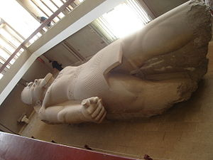 Giovanni Battista Caviglia - The colossal statue of Ramses II in the museum specially made at Memphis