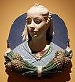 Andrea della robbia e bottega, busto di ragazza in un medaglione, 1465-70 ca. 01.JPG