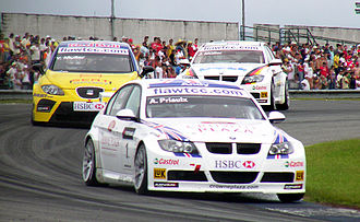 2007 World Touring Car Championship - Andy Priaulx (BMW), Yvan Muller (SEAT) and Jörg Müller (BMW) in Curitiba. Yvan Muller challenged double-champion Priaulx in the last stage of the season, but Priaulx won the Drivers' Championship again at the final round in Macau.