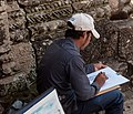 Angkor SiemReap Cambodia Artist-crayoning-the-ruins-01.jpg