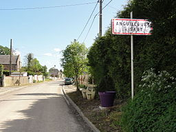 Anguilcourt-le-Sart (Aisne) city limit sign.JPG