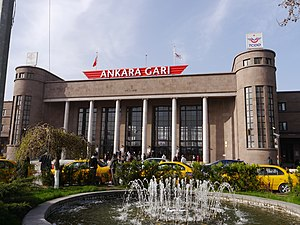 2015 Ankara bombings - Ankara Central railway station