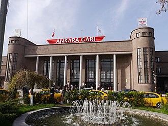 2015 Ankara bombings - Ankara Central railway station