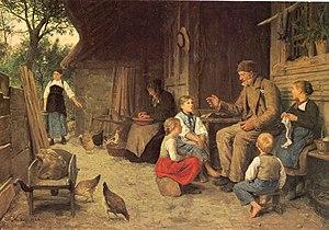 Albert Anker: Der Grossvater erzählt eine Gesc...