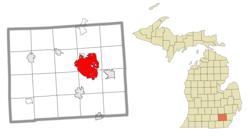 Localização no condado de Washtenaw