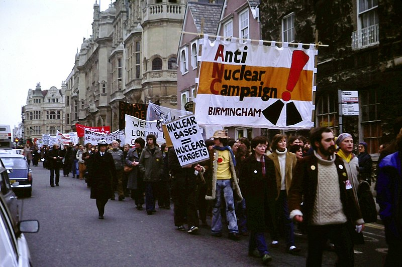 File:Anti-nuclear weapons protest, UK 1980.JPG