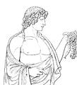 Antinous-reliefen i Villa Albani, Nordisk familjebok.png