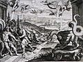 Apocalypse 25. The angels pour out their vials of wrath. Revelation 16. Merian. Phillip Medhurst Collection.jpg