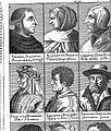 Aquinas, Magnus, Scotus, Petrarcha, Boccatius, Chrysoloras. Wellcome L0002422.jpg