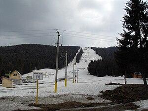 Arieșeni - View of the old ski slope in Arieşeni