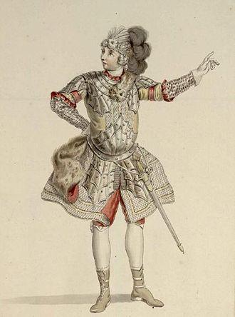 Giuseppe Belli (singer) - Giuseppe Belli as Segimiro in Hasse's opera Arminio (costume design by Francesco Ponte; Dresden 1753)
