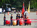 Army Academy R.O.C. Military Drums Team Stand by at Chengkungling Ground 20131012b.jpg