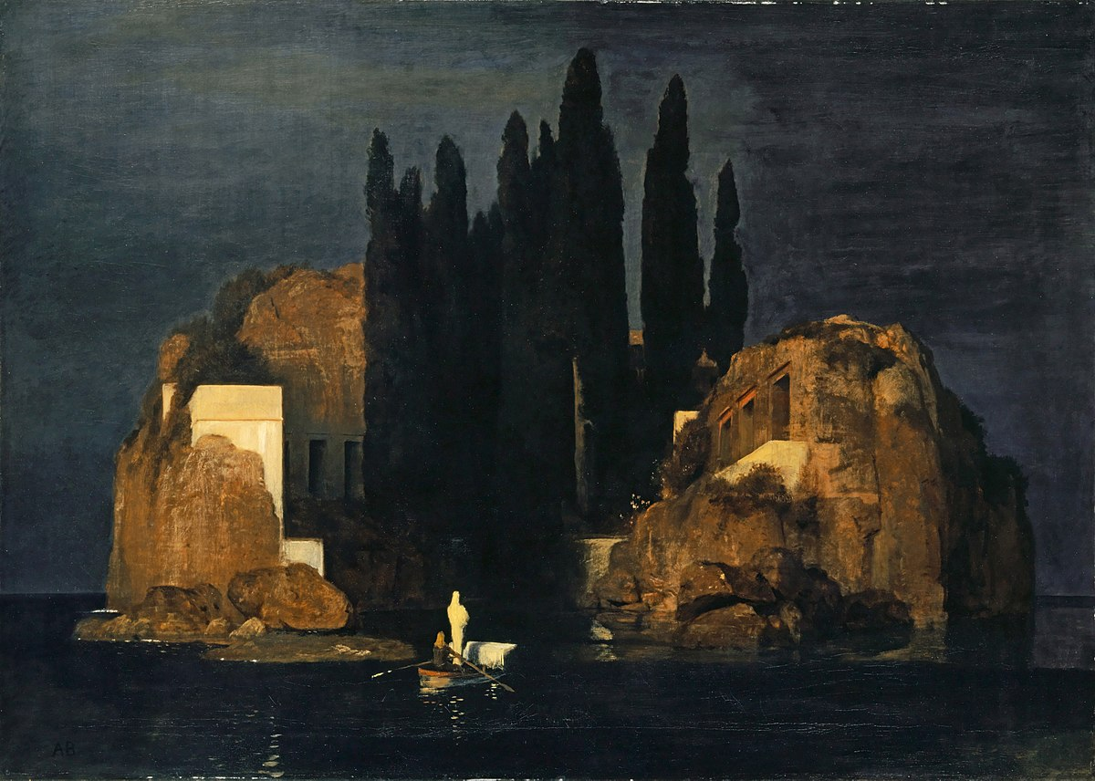 Isle of the dead painting wikipedia for Peinture mural original