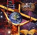 Arte por Ruth Woroniecki de Jesus en la cruz.jpg