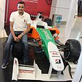 Arun Kumar Singh with Force India car.JPG