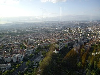 Çankaya, Ankara (neighbourhood) - The view from Atakule to Çankaya.