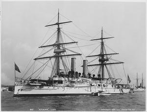 Atlanta (protected). Port bow, 1891 - NARA - 512894