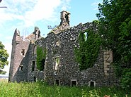 Auchans Castle Ayrshire from South-East