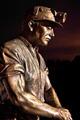 Auchengeich Miner at night bronze statue by John McKenna.tif