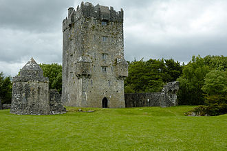 Tower houses in Britain and Ireland - Aughnanure Castle, a tower house and bawn in County Galway, Ireland