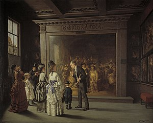 The Night Watch - The Night Watch as it hung in the Trippenhuis in 1885, by August Jernberg